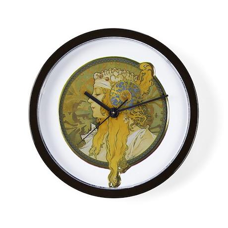 Byzantine Blonde Head Wall Clock