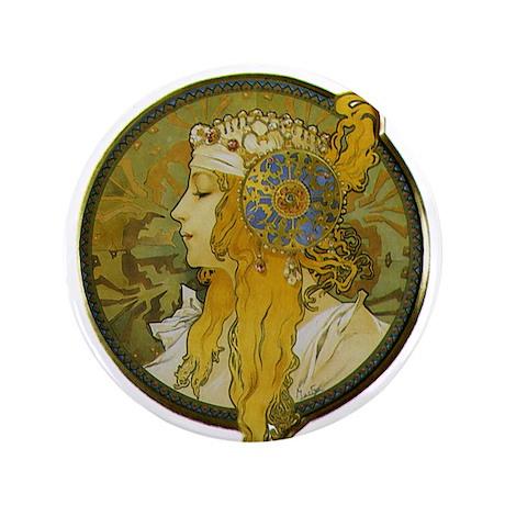 """Byzantine Blonde Head 3.5"""" Button (100 pack)"""