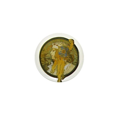 Byzantine Blonde Head Mini Button (10 pack)