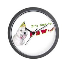 It's time to PAWty! Wall Clock