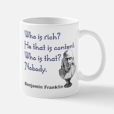 Who is rich? Mug