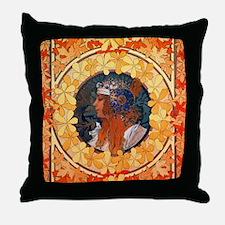 Byzantine Blonde Head Throw Pillow