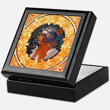 Byzantine Blonde Head Keepsake Box