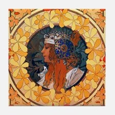 Byzantine Blonde Head Tile Coaster