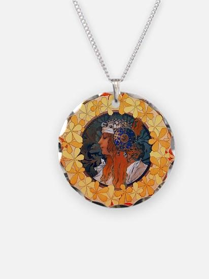 Byzantine Blonde Head Necklace