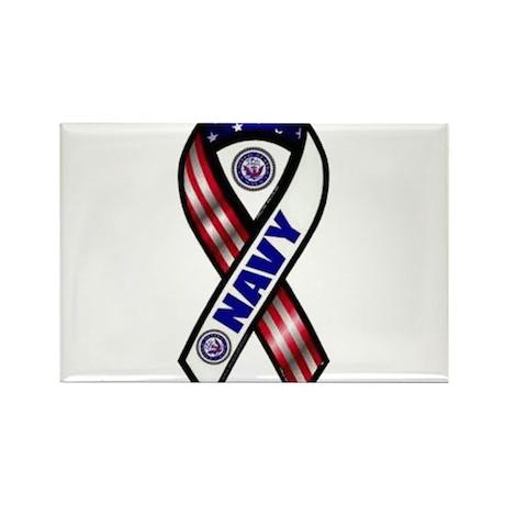 Navy Rectangle Magnet (10 pack)