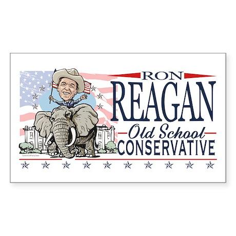 Ron Reagan GOP Elephant Sticker (Rectangle)