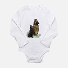 Mother and Pup Long Sleeve Infant Bodysuit