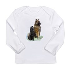 Mother and Pup Long Sleeve Infant T-Shirt