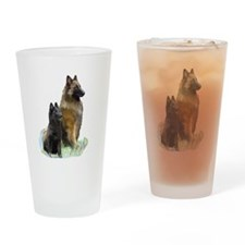 Mother and Pup Drinking Glass