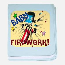 Baby I'm a Firework baby blanket