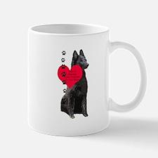 Belgian Sheepdog Heart Mug
