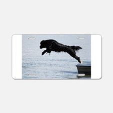 Water Dogs Aluminum License Plate