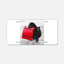 Water Dogs II Aluminum License Plate