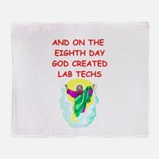 lab techs Throw Blanket