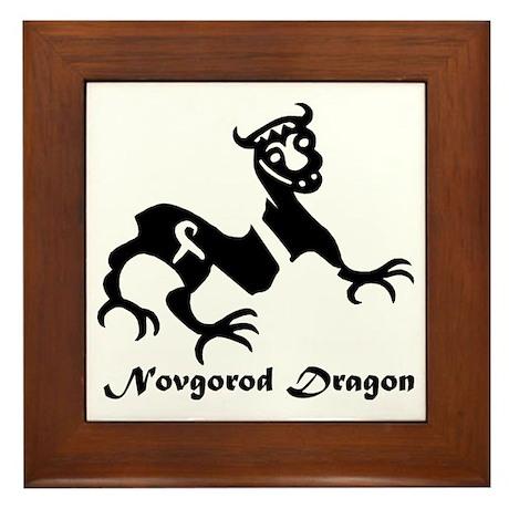 Novgorod Dragon Framed Tile