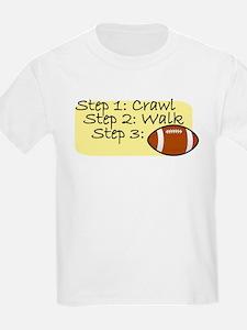 Crawl Walk Football T-Shirt