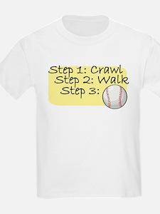 Crawl Walk Baseball T-Shirt