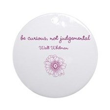 Be Curious Ornament (Round)