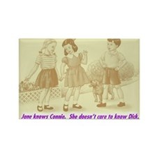 Jane Knows Connie Rectangle Magnet (100 pack)