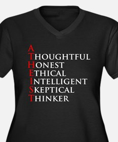 Atheist Acronym Women's Plus Size V-Neck Dark T-Sh