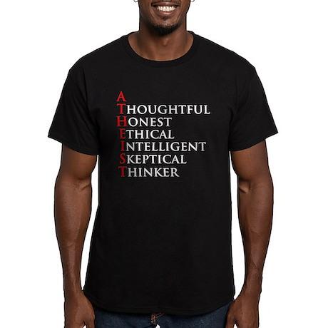 Atheist Acronym Men's Fitted T-Shirt (dark)