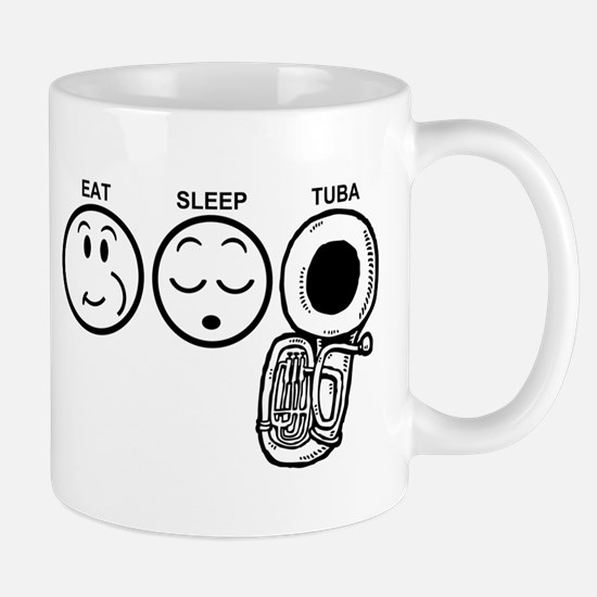 Eat Sleep Tuba Mug
