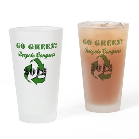 Go Green! Drinking Glass