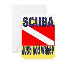 Scuba - Just Add Water Greeting Cards (Pk of 10)