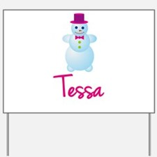 Tessa the snow woman Yard Sign