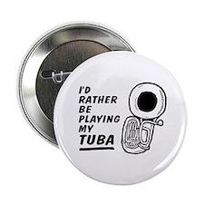 """Funny Tuba 2.25"""" Button"""