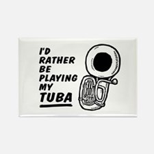 Funny Tuba Rectangle Magnet