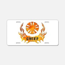 Fire Chiefs Flame Tattoo Aluminum License Plate