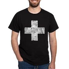 Vintage, White Cross T-Shirt