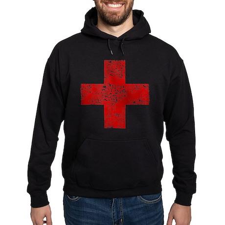 Vintage, Red Cross Hoodie (dark)