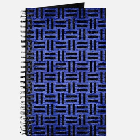 WOVEN1 BLACK MARBLE & BLUE BRUSHED METAL ( Journal