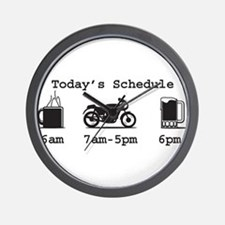 Coffee, 2 Wheels, and Beer Wall Clock