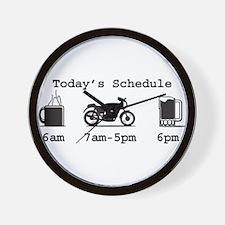 Coffee, 2 Wheels, and Beer Wall Clock