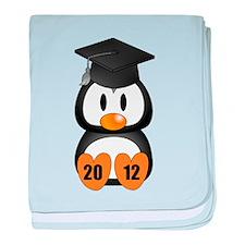 Custom Gradution Penguin baby blanket