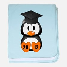 Custom Gradution Penguin baby blanket