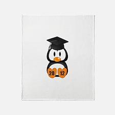 Custom Gradution Penguin Throw Blanket