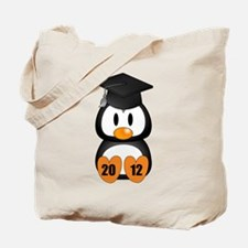 Custom Gradution Penguin Tote Bag