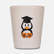 Custom Gradution Penguin Shot Glass