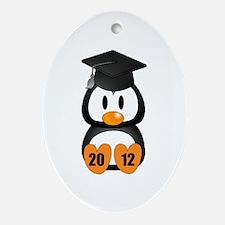 Custom Gradution Penguin Ornament (Oval)
