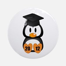 Custom Gradution Penguin Ornament (Round)