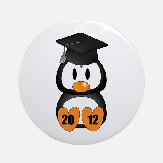 Custom Gradution Penguin Ornament (Round)