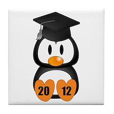 Custom Gradution Penguin Tile Coaster