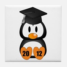 Custom Gradution Penguin Tile Coaster