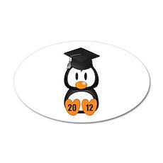 Custom Gradution Penguin Wall Decal