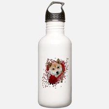 Valentines - Key to My Heart Shiba Inu Water Bottle